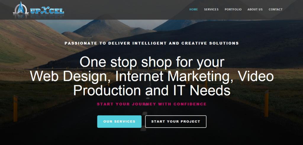 Landing page of upxcel.com